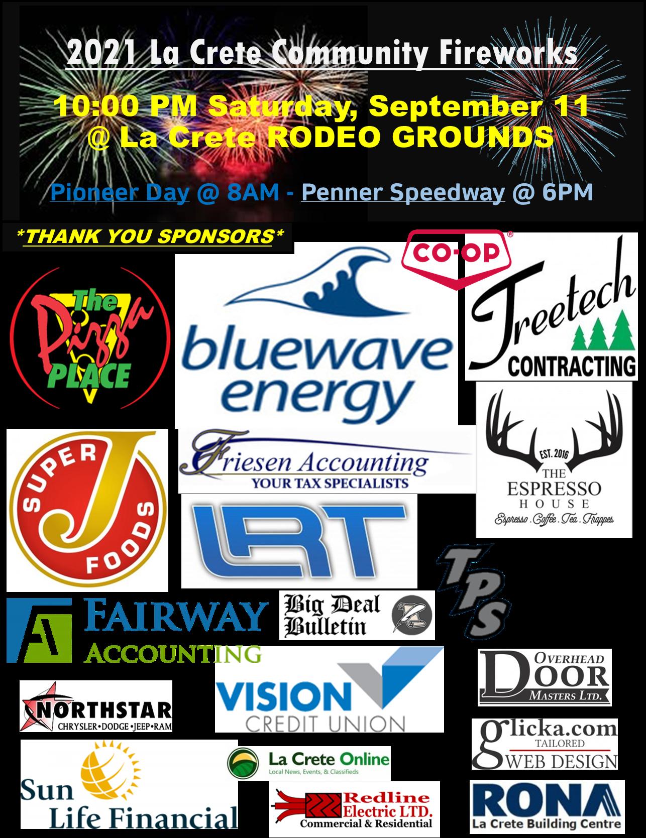 2021 Community Fireworks Sponsors-Logos