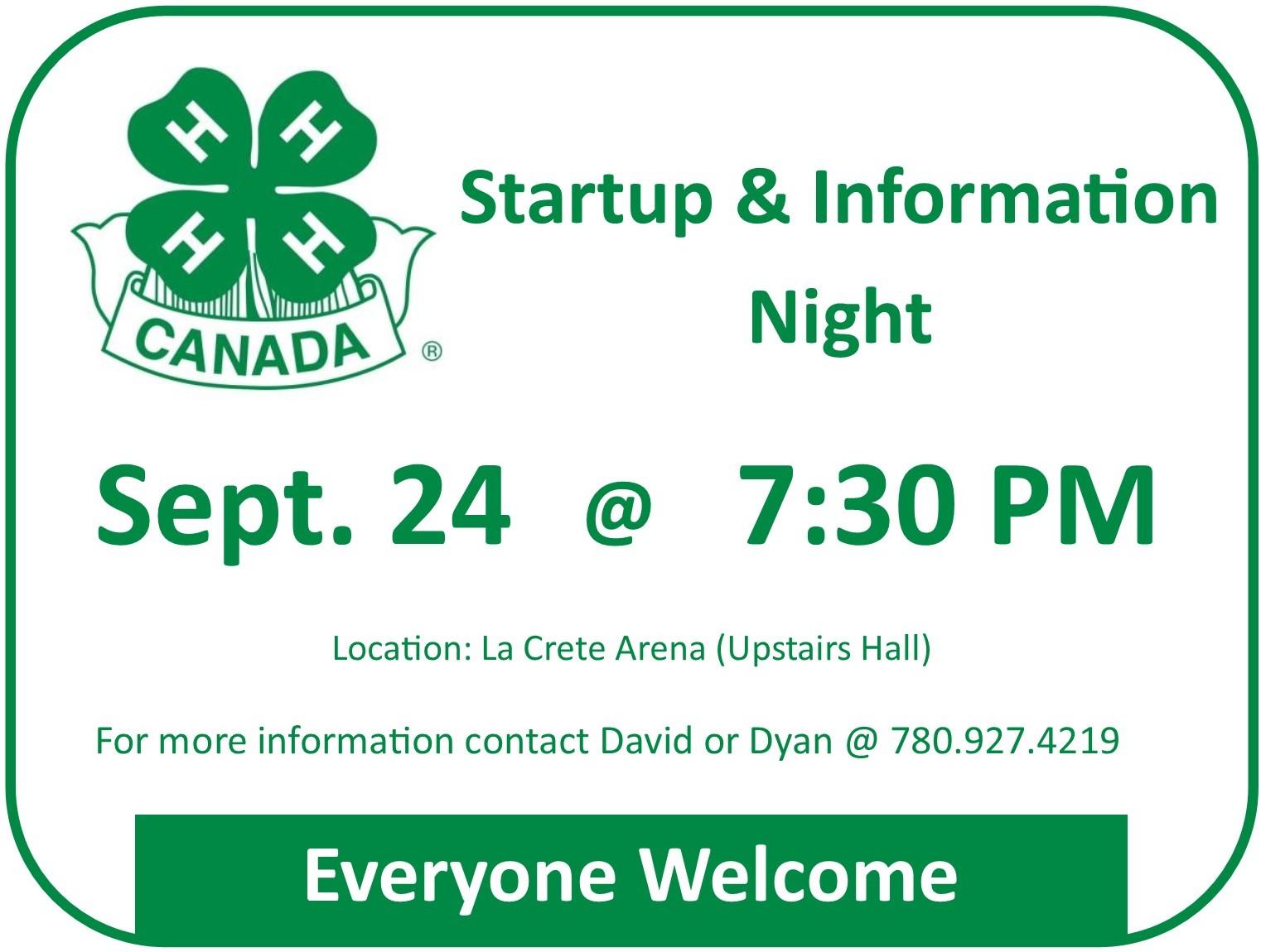 4H Startup Night Sept 24 2018