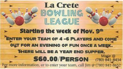 BDB Oct 16-La Crete Bowling Alley