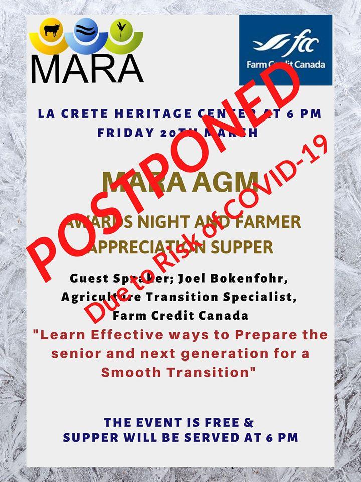 MARA AGM & Awards March 20, 2020-POSTPONED