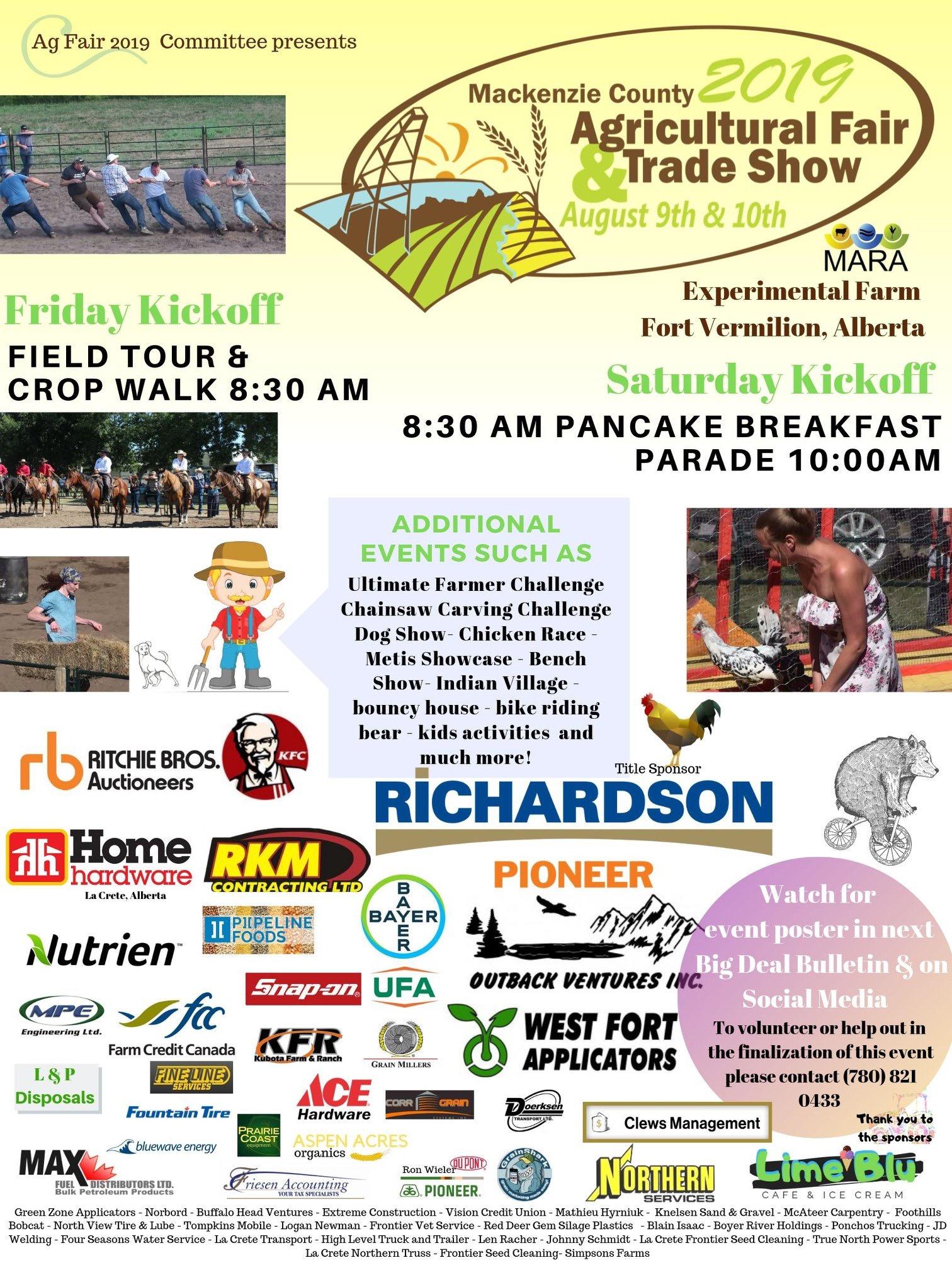 Mackenzie County Ag Fair & Trade Show 2019