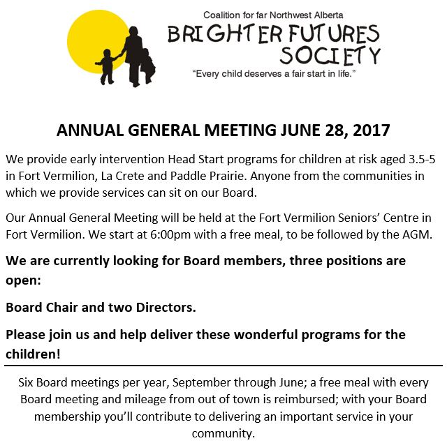 NW Brighter Futures Society-AGM-June 28, 2017