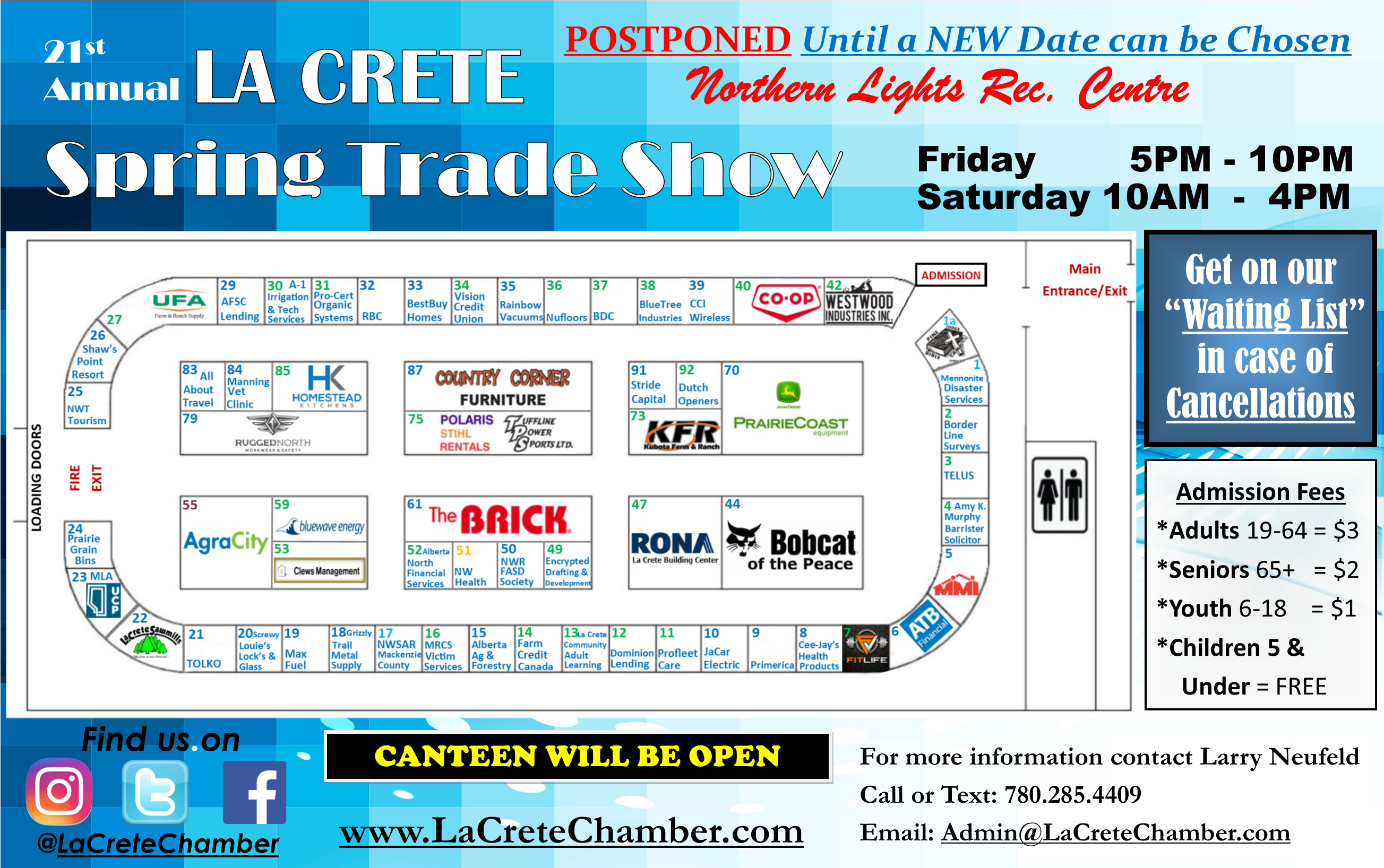 2020 Trade Show March 17 Website Poster