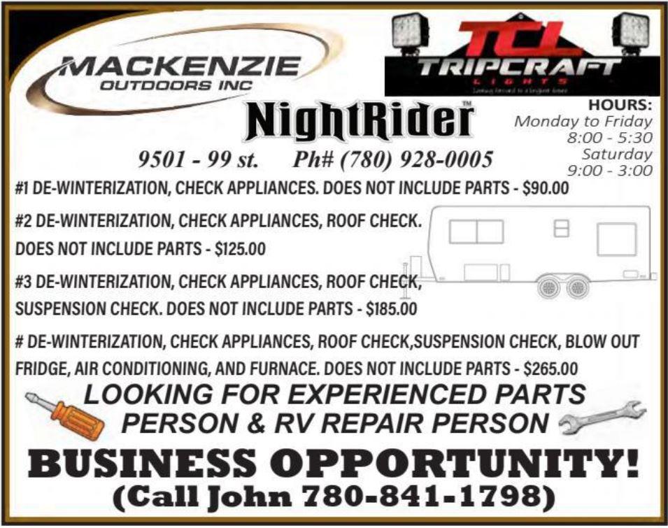 BDB Aug 16-Mackenzie Outdoors-Parts-RV Person