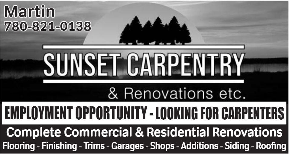 BDB Aug 16-Sunset Carpentry
