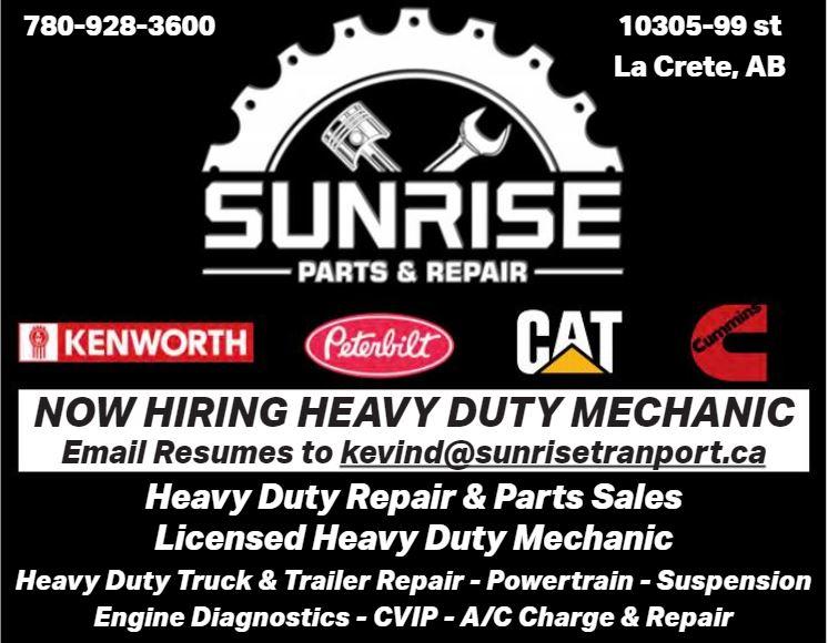 BDB Aug.1-Sunrise Parts-HD Mechanic