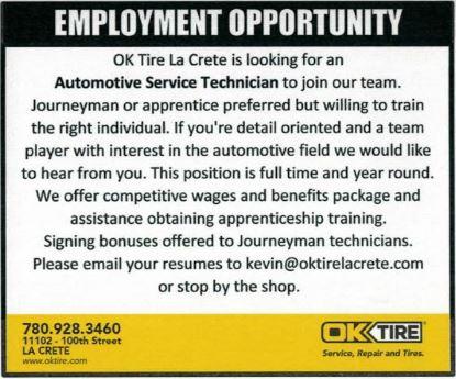 BDB Feb 16, 2020-OK Tire-Auto Service Tech