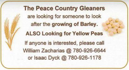 BDB Feb 16, 2020-Peace Country Gleaners-Peas Barley