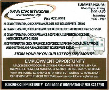 BDB-Mackenzie Outdoors-June 1