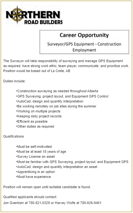 BDB March 1, 2021-NRB-Surveyor