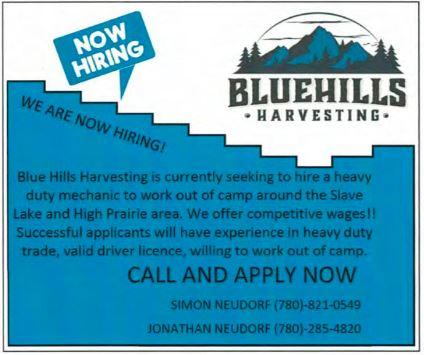 BDB Nov 16-Bluehills Harvesting-Heavy Duty Mechanic