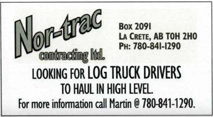 BDB-October 16, 2019 Nor-trac Contracting Log Truck Drivers