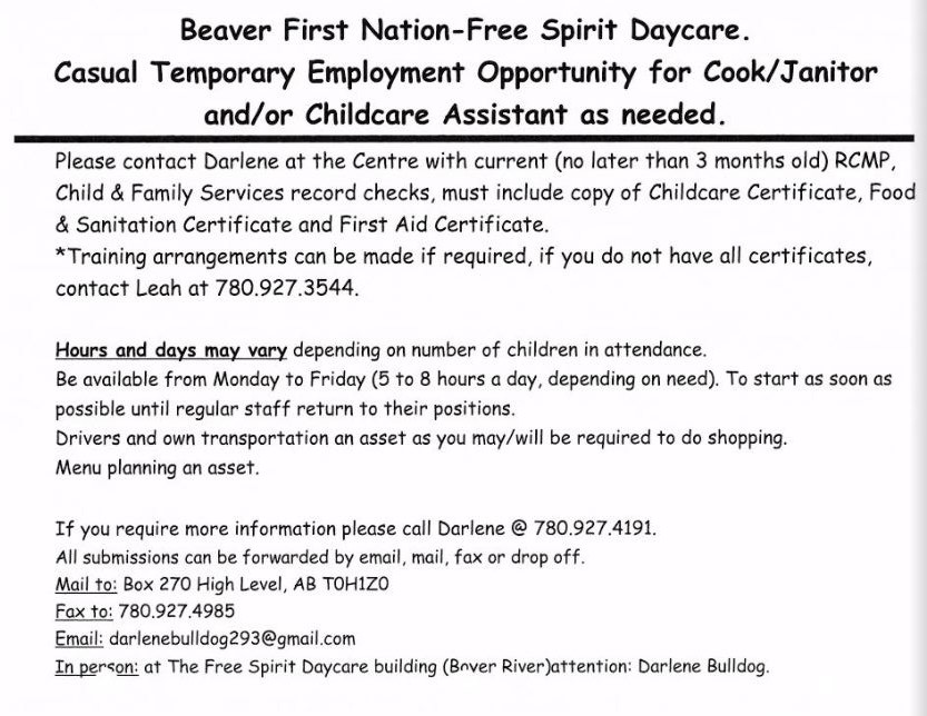 Beaver First Nation Childcare
