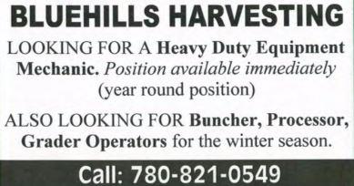 Bluehills Harvesting