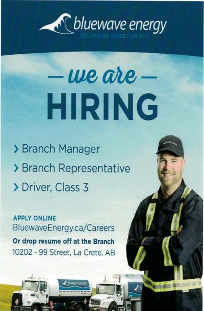 Bluewave Energy-Branch Manager-Branch Representative-Driver, Class3