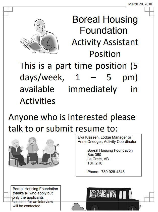 Boreal Housing Activity Assistant