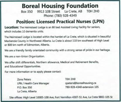 Boreal Housing Health LPN-BDB November 1, 2019