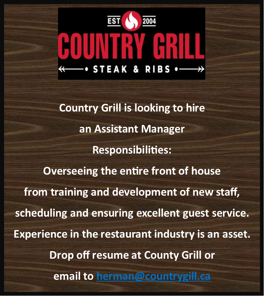 Country Grill-Assistant Manager