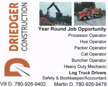 Driedger Construction Log Truck Drivers