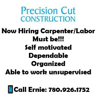 Emailed Dec 19-Precision Cut Construction-Carpenter-Labor