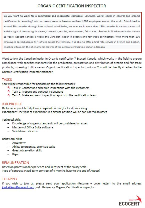 Emailed-Ecocert-Organic Certification Inspector-La Crete-Feb 17, 2020