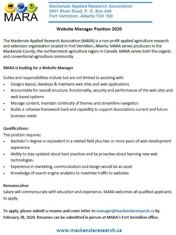 Emailed Nov 28-MARA-Website Manager