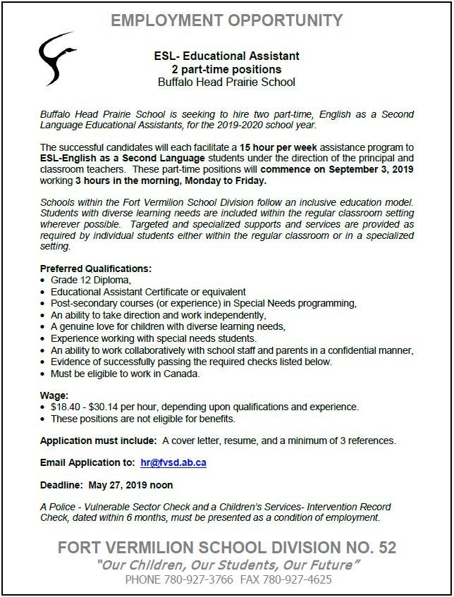 Job Board | La Crete & Area Chamber of Commerce