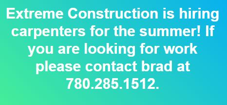 Extreme Construction Job Ad