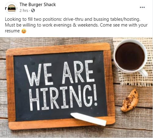 Facebook-The Burger Shack-March 15, 2021