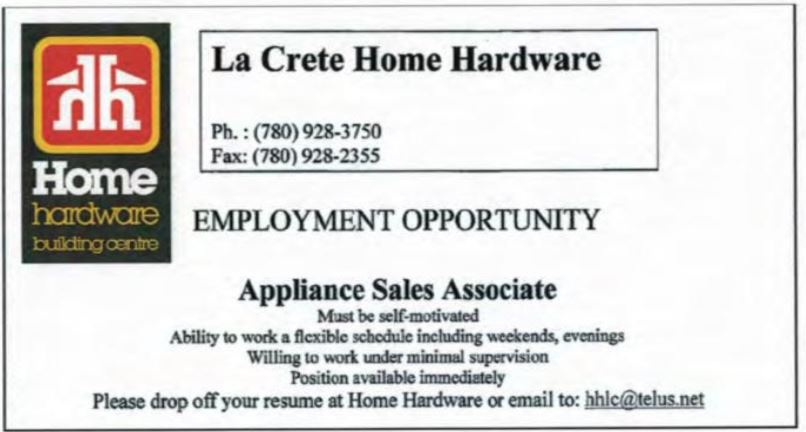 Home Hardware Appliance Sales