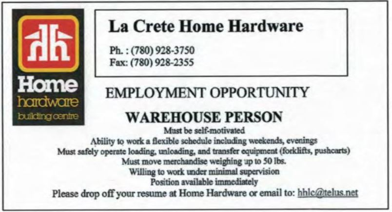 Home Hardware Warehouse Person