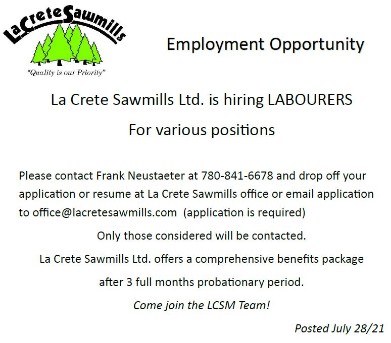 La Crete Sawmills-Emailed July 28