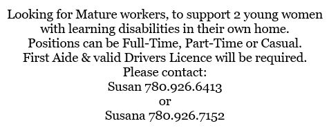 Learning Disabilities Support Workers - Employment Ad-August 15, 2019