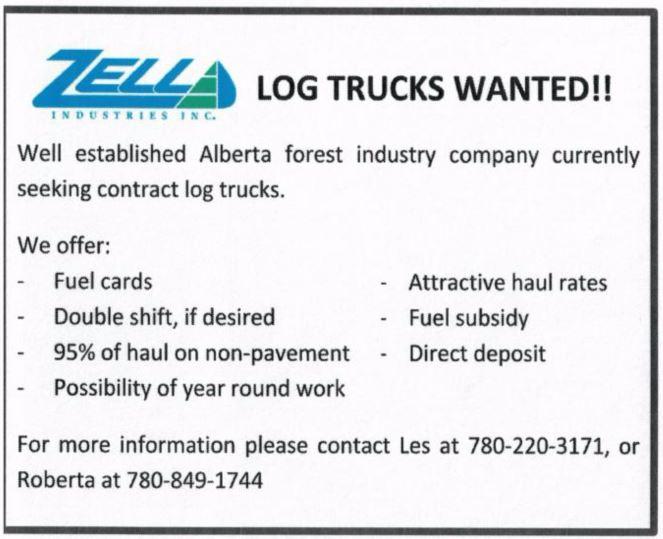 Log Trucks Wanted