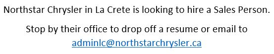 Northstar Chrysler Sales Person