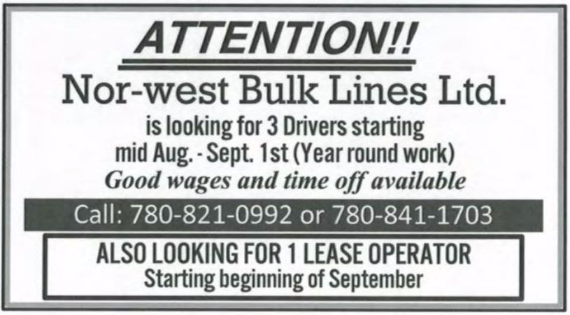 Now-West Bulk Lines
