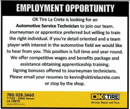 OK Tire-Automotive Service Technician