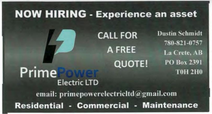 Prime Power Job Ad