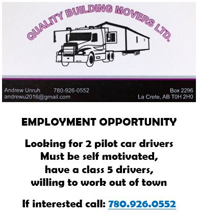 Quality Building Movers-Employment Ad-May 17, 2019