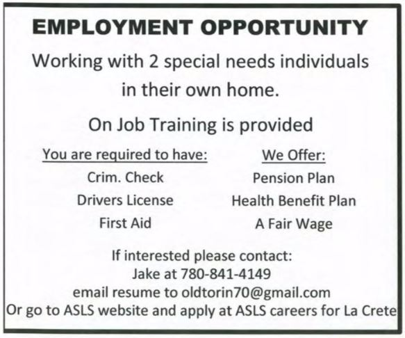 Special Needs ASLS