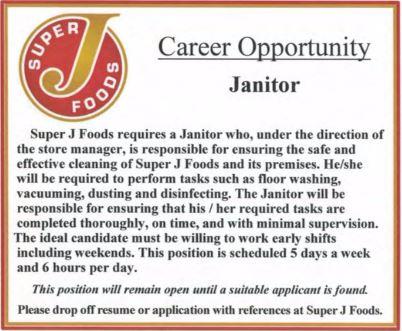 Super J Foods-Empoyment Opportunity-BDB June 1-15, 2017