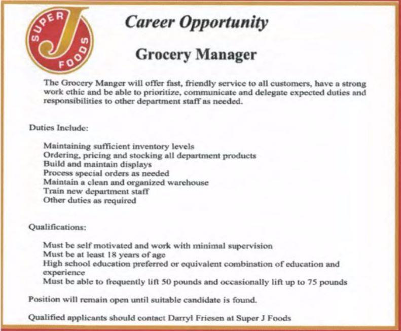 Super J Grocery Manager