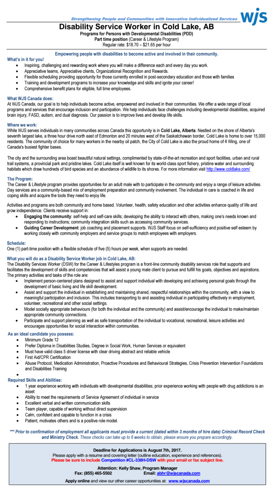Wsj 2 Disability Service Worker Jobs Wsj Disability Services Worker