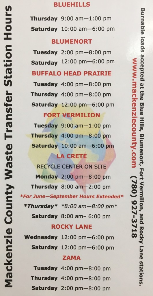Waste Transfer Station Hours
