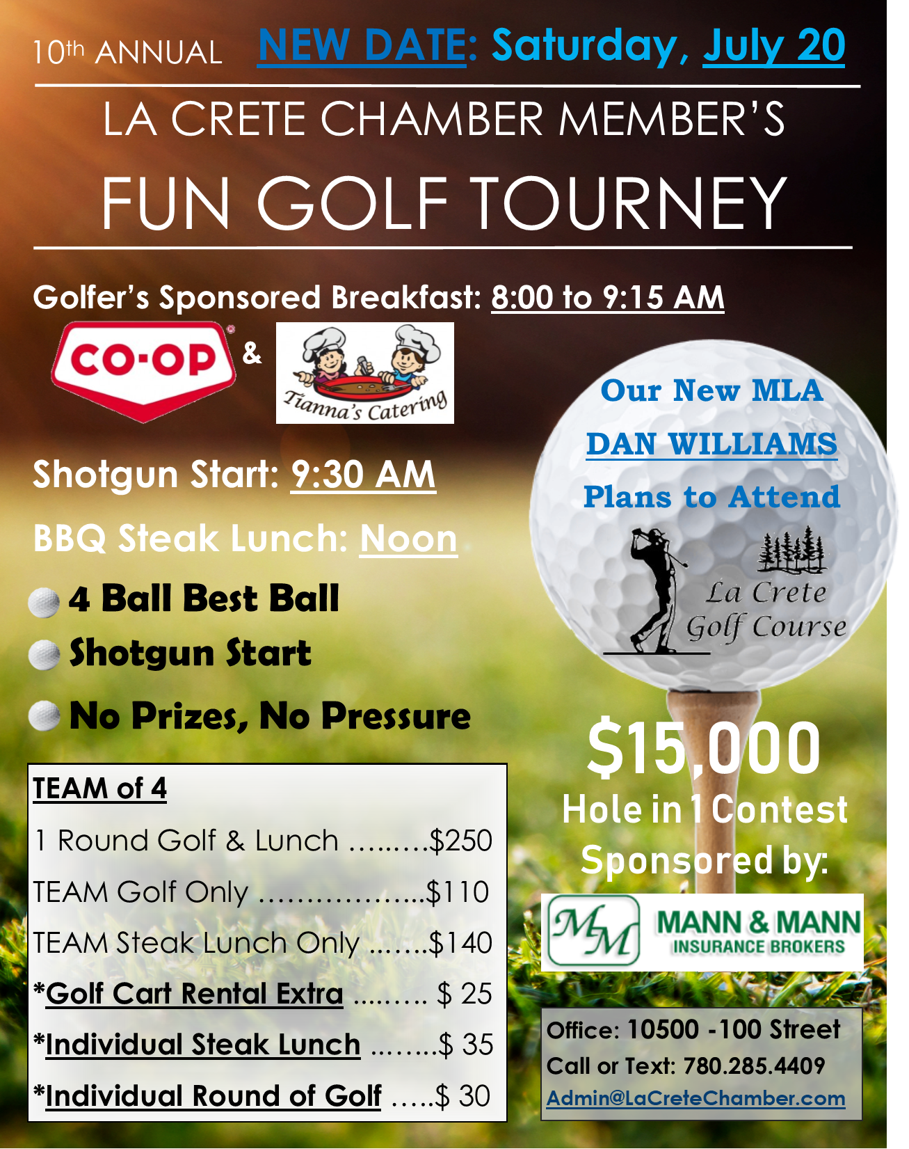10th Annual Chamber Golf Tourney-July 20-Sponsored Golfer's Breakfast
