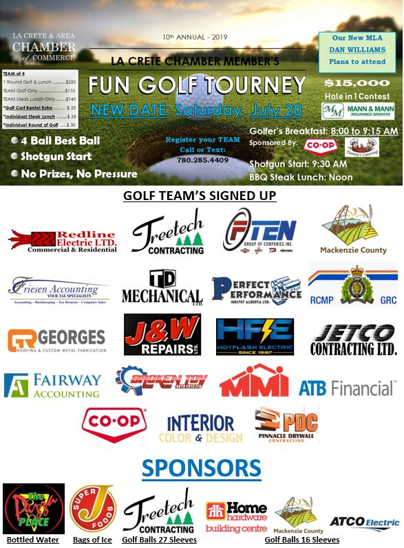 2019 Golf Tourney-Participants Logos July 19