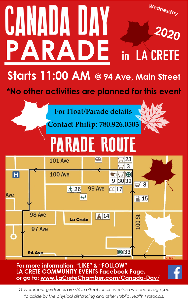 2020 Canada Day Parade Poster