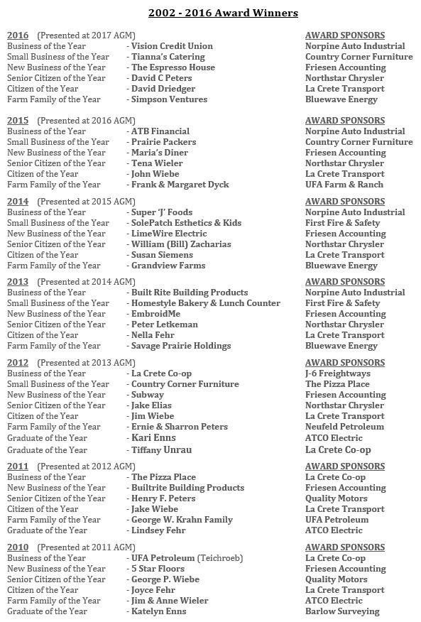 2016 Award Winners-2017 AGM-Page 1