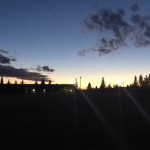 Rec Centre Field at Night - Rachel Neustaeter