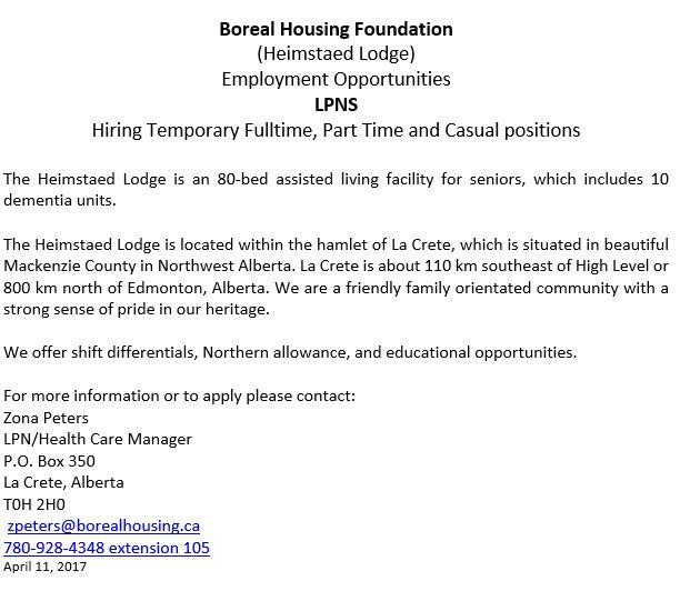LPN employment opportunity